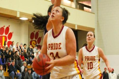 RAMONAS' 21 POINTS NOT ENOUGH AS PRIDE FALLS  56-52 TO MULES