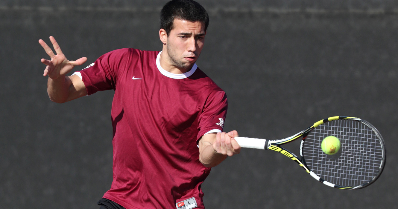 No. 49 Men's Tennis Tops New Mexico State 4-3