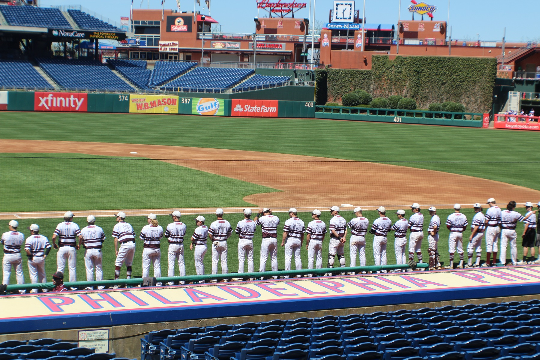 Baseball Sparks Late Rally Against WCU From Citizens Bank Park