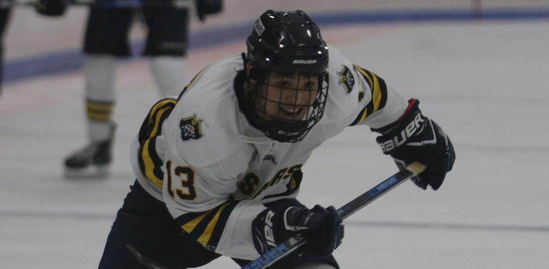 Mack Attack Leads Ice Hockey To 8-1 MASCAC Victory At Framingham State
