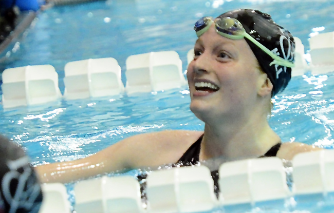 Hill Paces Swimmers to Second After Day One
