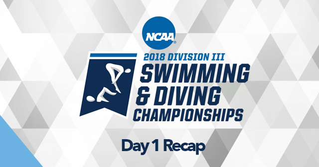 Day 1 Recap: NCAA Men's and Women's Swimming & Diving Championships