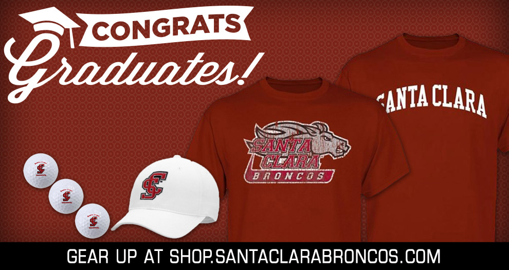 Attention 2014 SCU Graduates/Alums & Those Looking for Bronco Father's Day Gifts: Receive 10% Off the Broncos' On-Line Store Now!