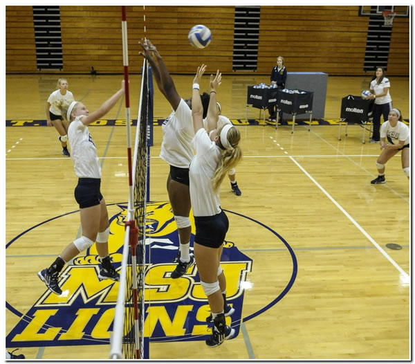 Lions' women's volleyball team goes 1-1 in first day of action at the HCAC/OAC Challenge