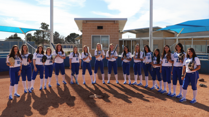 Wrangler Softball Sweeps Midland in 4 Game Series