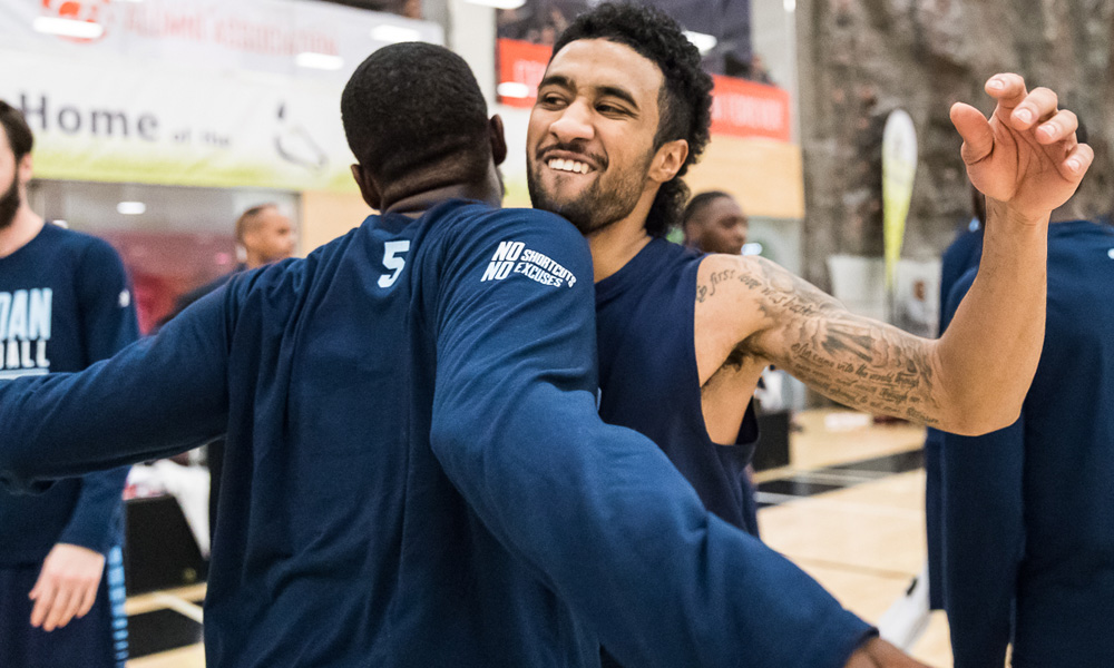 Men's basketball down rivals from Humber in overtime to reach title game