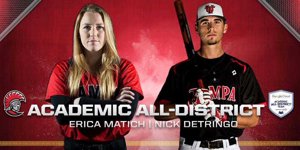 Erica Matich and Nick DeTringo Recognized As Academic All-District First Team Members