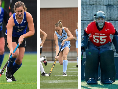 Erin Coverdale, Franklin & Marshall; Grace Hillman, Johns Hopkins; Maggie Titus, Bryn Mawr