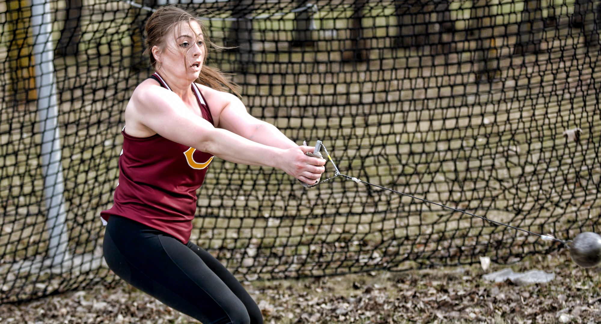 Senior Bailey Hovland won the hammer throw at the MIAC Meet on her very last attempt and also finished second in the discus.