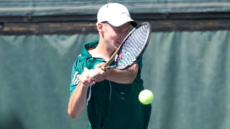 MEN'S TENNIS FALLS TO HAWAI'I PACIFIC, 5-2, IN SECOND MATCH OF THE SEASON