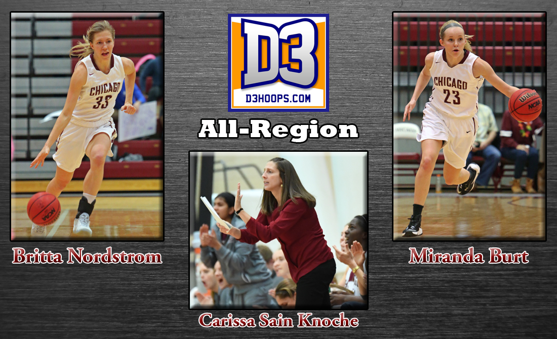 Maroon women's basketball honored with D3hoops All-Region awards