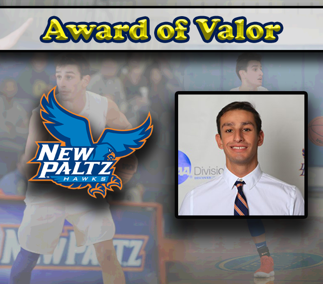 Nick Paquette honored with SUNYAC Award of Valor