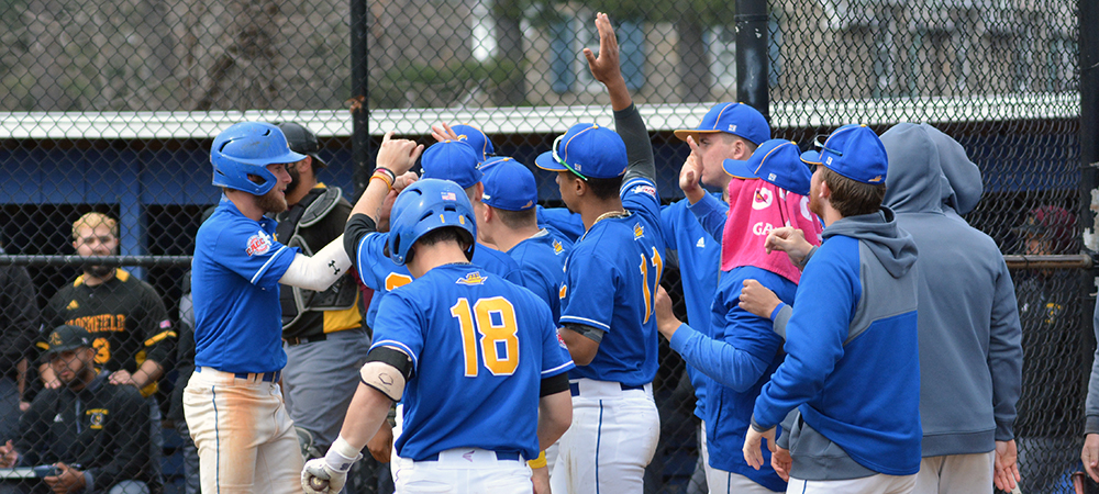 Baseball Sweeps CACC Foe Bloomfield, 4-3 and 5-4, in Home Opener