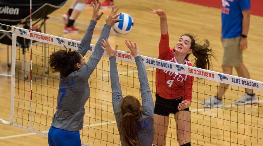 Nina Pevic and the Blue Dragon Volleyball Team takes on the Barton Cougars at 6:30 p.m. on Wednesday at the Sports Arena. (Allie Schweizer/Blue Dragon Sports Information)