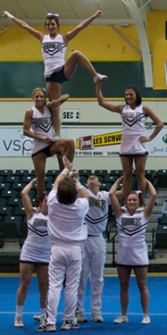 CHEER TEAM FINISHES SECOND AT UCA NATIONAL CHAMPIONSHIPS