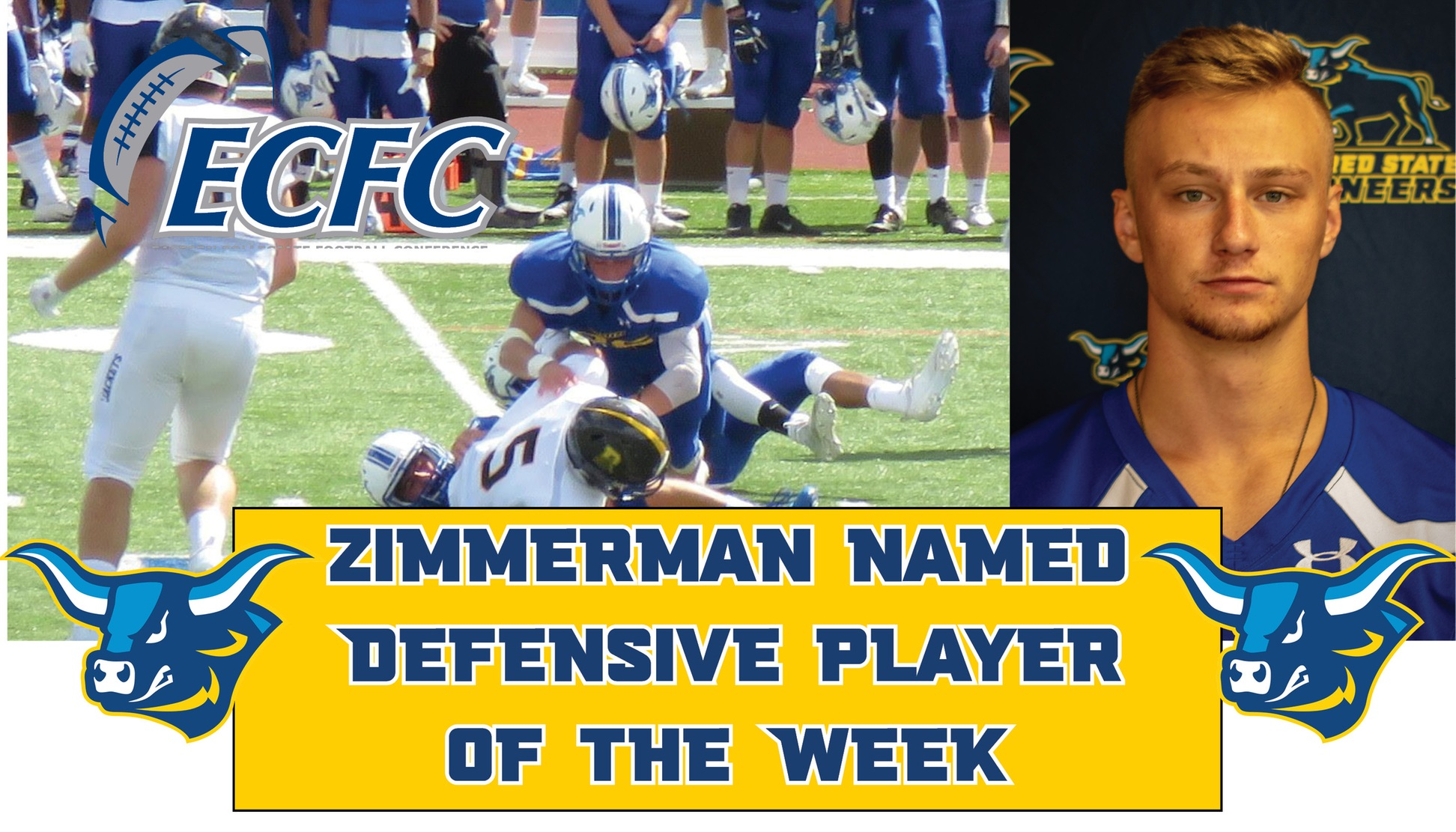 Michael Zimmerman named ECFC Defensive Player of the Week