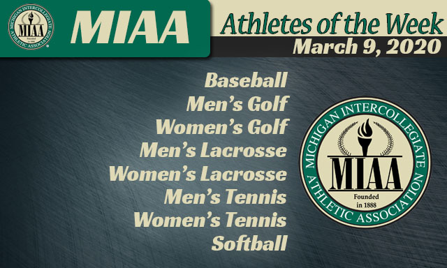 MIAA Athletes of the Week - March 9, 2020