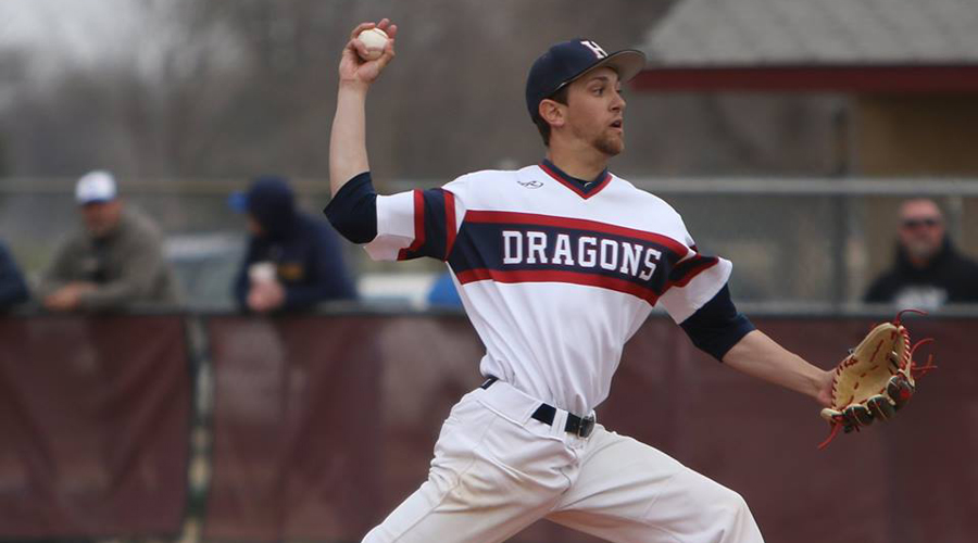 Mike Brown twirled a two-hit shutout in a 5-0 victory over Garden City on Thursday in Garden City. (Joel Powers/Blue Dragon Sports Information)