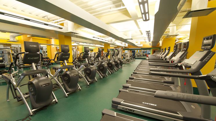 The new Ruth W. & A. Morris Williams, Jr. Fitness Center