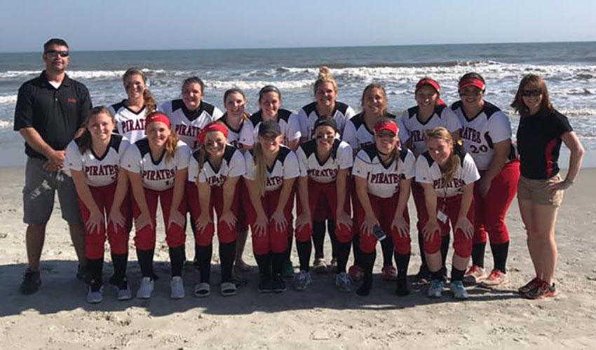 Lady Pirates Go 6-2 In Myrtle Beach