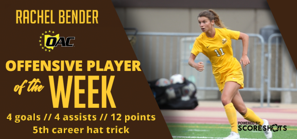 Bender Named OAC Offensive Player of the Week