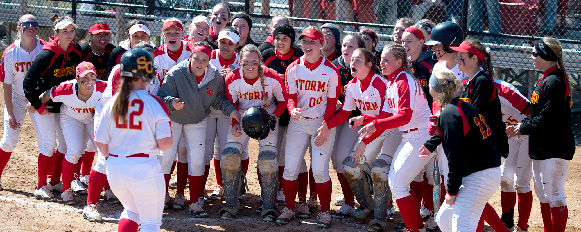 Sara Trent had two home runs on Saturday for the Storm.
