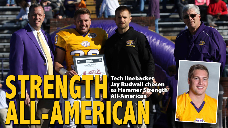 Linebacker Jay Rudwall named as Hammer Strength All-American