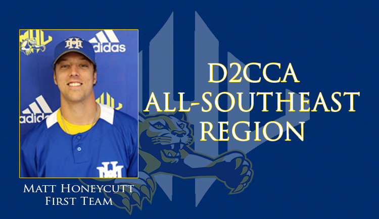 Honeycutt named to D2CCA All-Southeast Region First Team