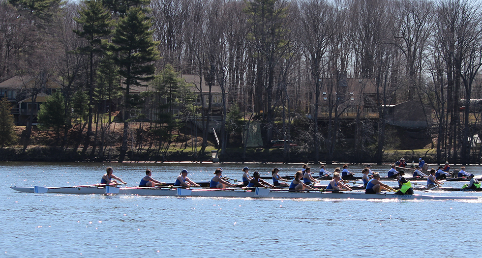 Rowing Finishes Fifth at NEWMAC Championships