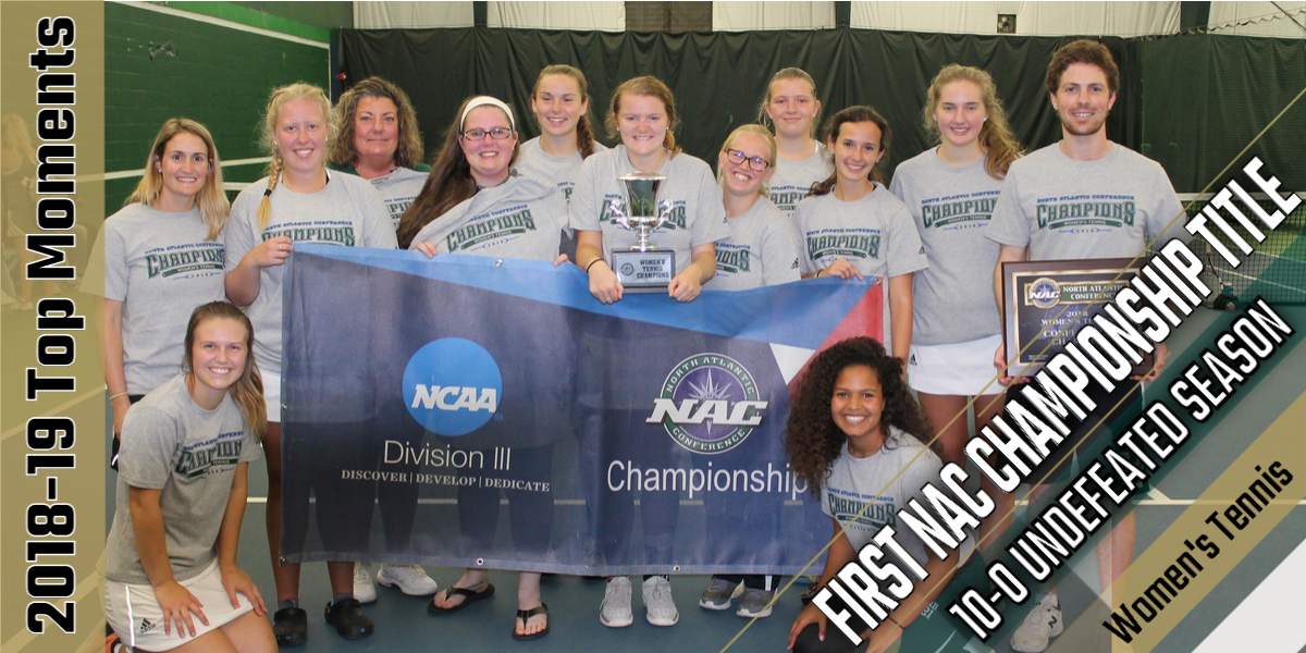 Top Moments of 2018-19: Women's Tennis Wins First NAC Championship in Program History
