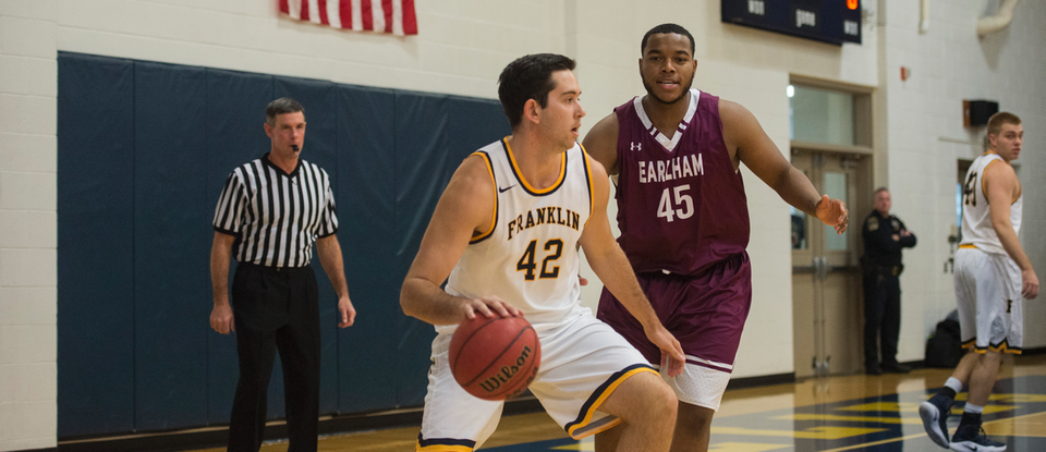 Franklin College Men's Basketball Team Picks Up First Conference Win against Earlham College