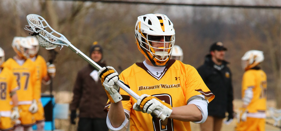 Senior two-time All-OAC attack Mike Nanosky tied a career high with four goals in BW's win over Geneseo (Photo courtesy of Mike Bower)