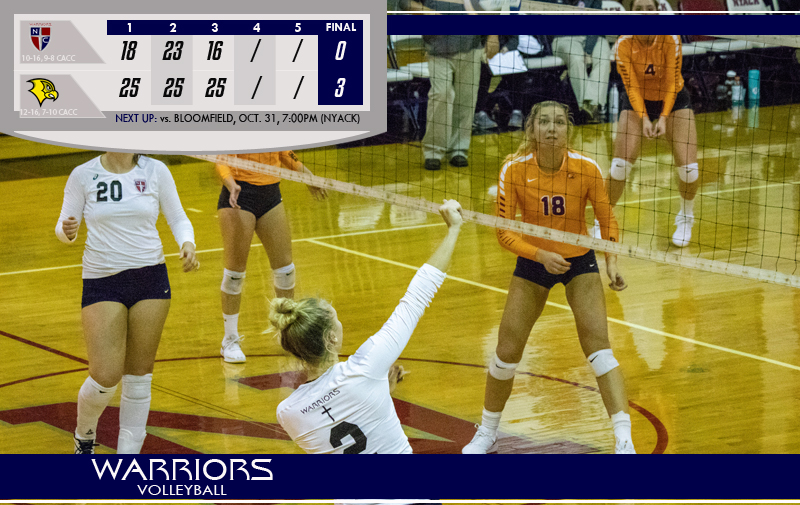 Volleyball Fall on the Road to Felician University Golden Falcons in Three