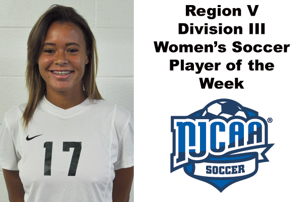 Region V Division III Women's Soccer Player of the Week (Oct. 16-22)