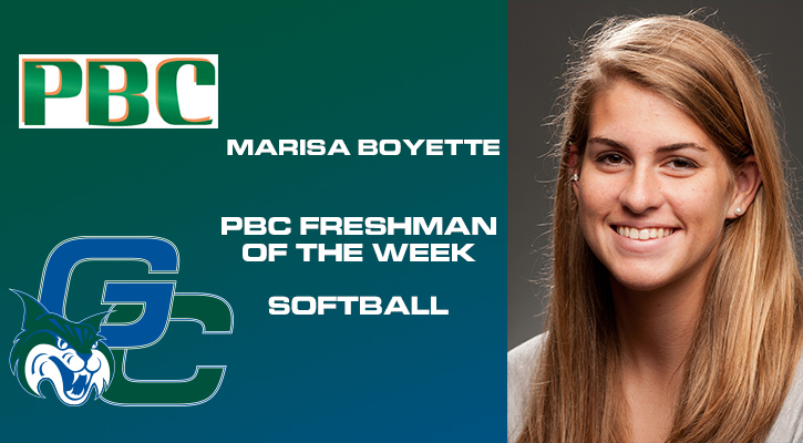 Boyette Named PBC Freshman of the Week