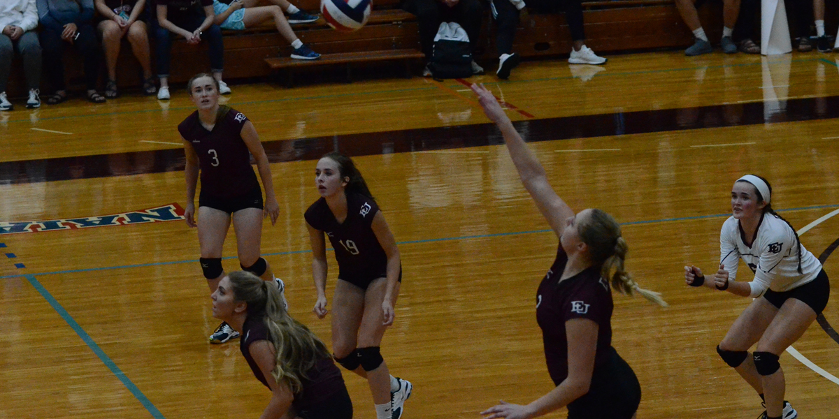No. 21 Missouri Valley Too Much for Evangel Volleyball in 3-1 Loss