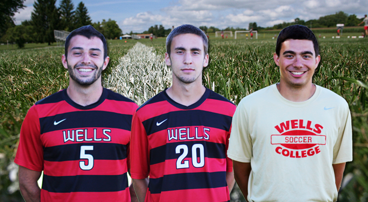 Wells Trio Earns NEAC Men's Soccer All-Conference