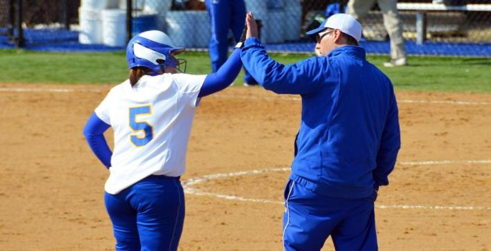 Landherr hits homer, Softball splits with Benedictine