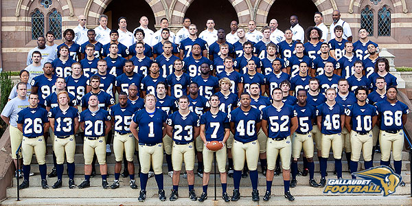 2010 Gallaudet University Football Roster - Gallaudet