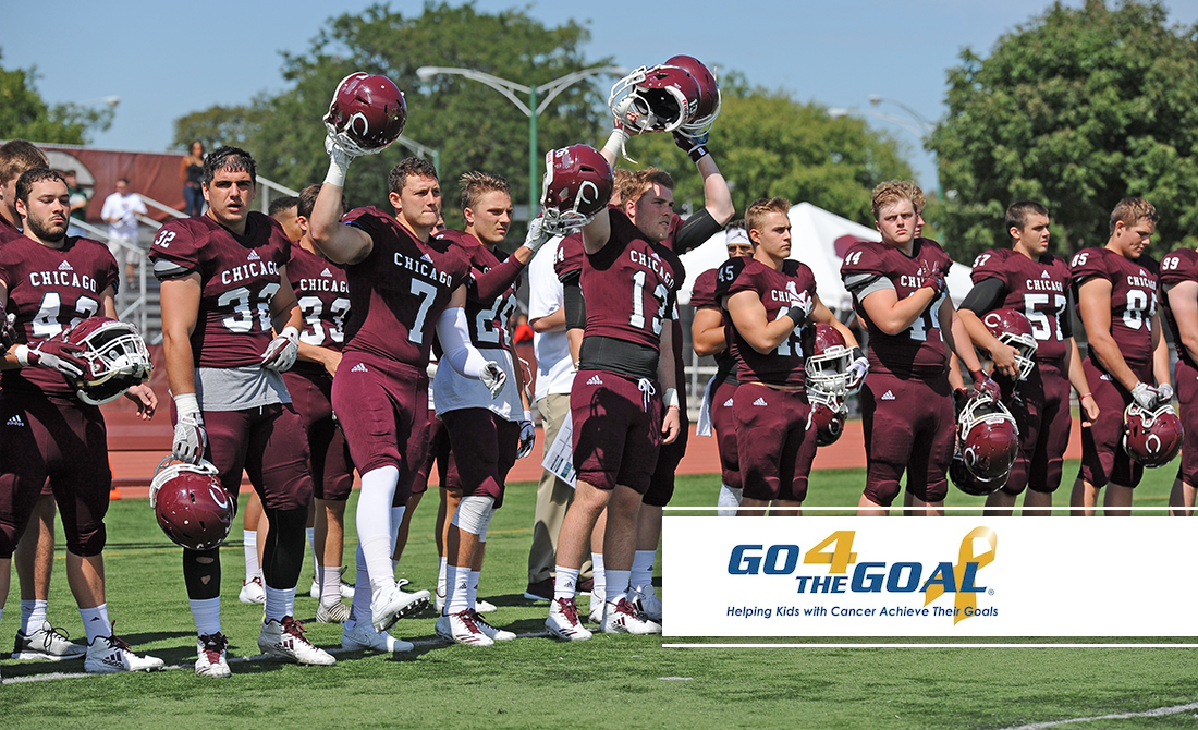 UChicago Football to Lace Up 4 Pediatric Cancer on Saturday