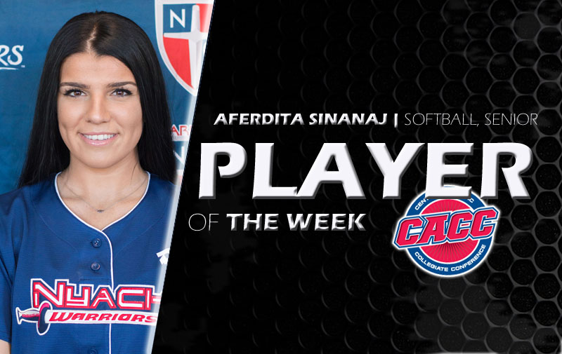 Aferdita Sinanaj Has Been Named CACC Softball Player of the Week