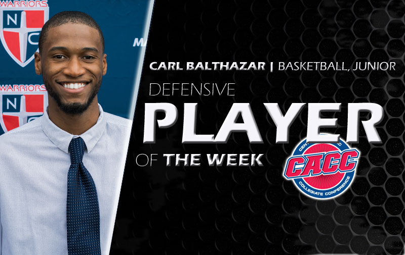 Carl Balthazar Has Been Named the CACC Defensive Player of the Week