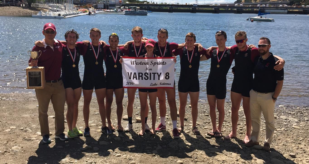 Santa Clara's Varsity 8 boat is off to the IRA National Championship Regatta for the second straight year.