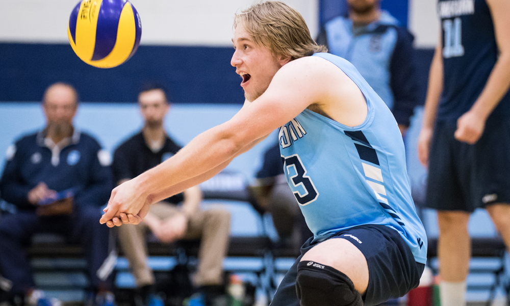 Men's volleyball can't keep pace with Mohawk in league opener