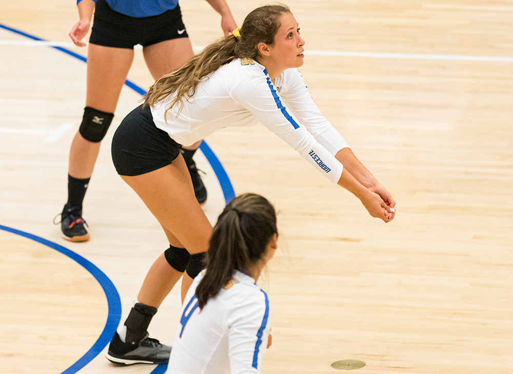 Women's Volleyball Upended in Regular Season Finale