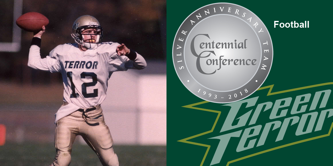 Ron Sermarini makes the Centennial Conference Silver Anniversary Team for football.