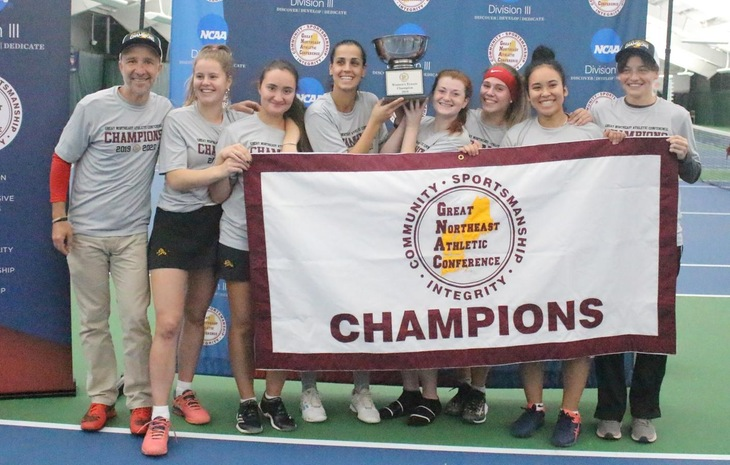 Women's Tennis Rallies Past Johnson & Wales to Claim First-Ever GNAC Crown