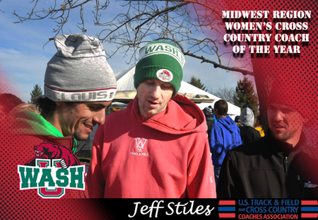 Jeff Stiles of Washington University Awarded Third Consecutive Regional Coach of the Year Honor