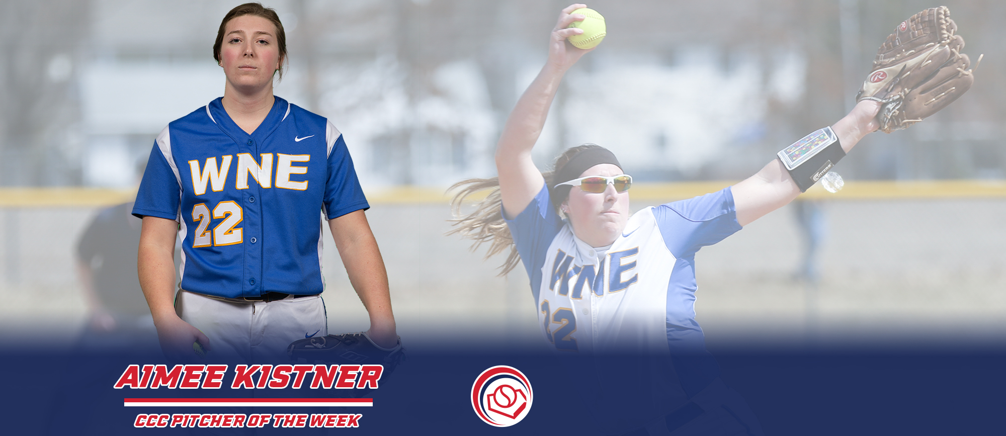 Aimee Kistner Named CCC Pitcher of the Week