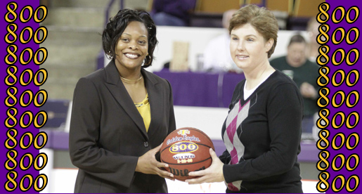 Women's Basketball program recognized for milestone 800 victories